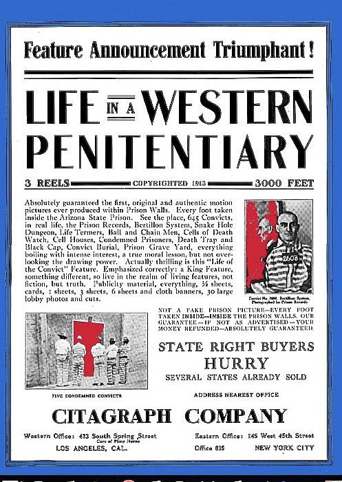 Life in a Western Penitentiary Moving Picture World trade ad  Dec 27 1913 Citagraph Company 1914 col by David Lee Guss