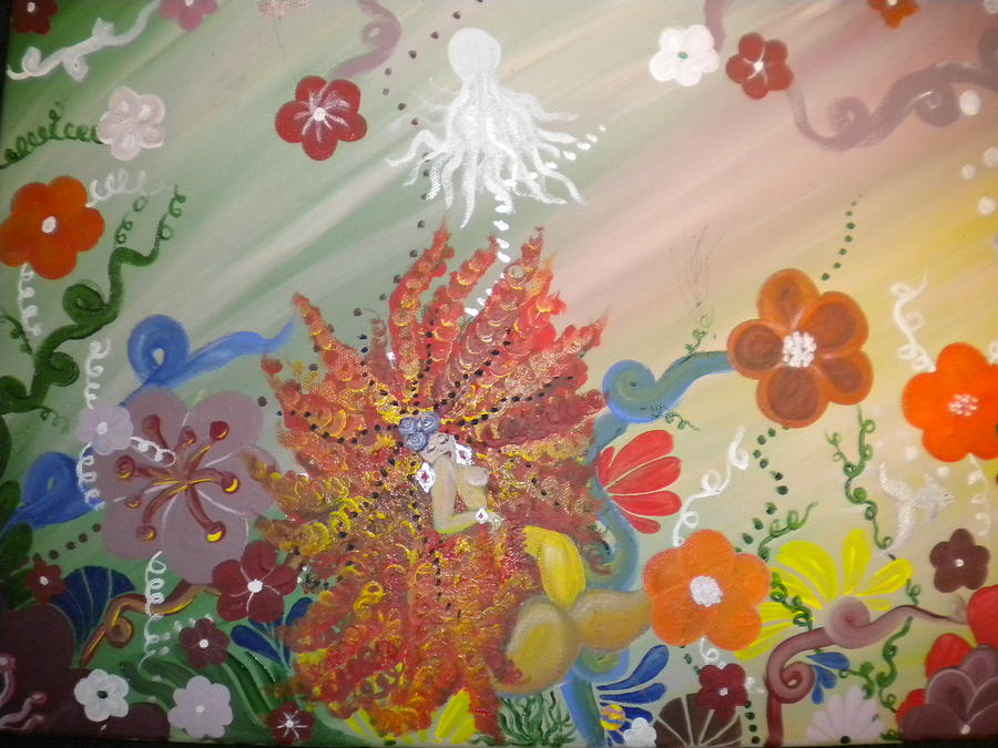 Colorful Painting - Life In The Sea by Hollie Leffel