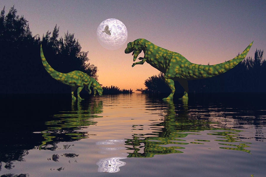 Bryce Digital Art - Life In The Swamp by Claude McCoy