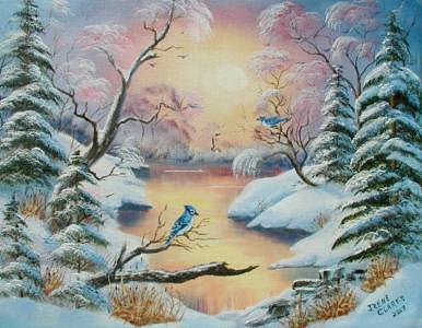 Winter Painting - Life In The Wilderness by Irene Clarke