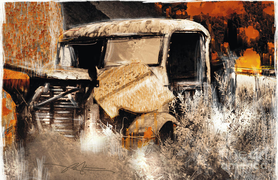 Truck Painting - Life Is A Highway by Bob Salo