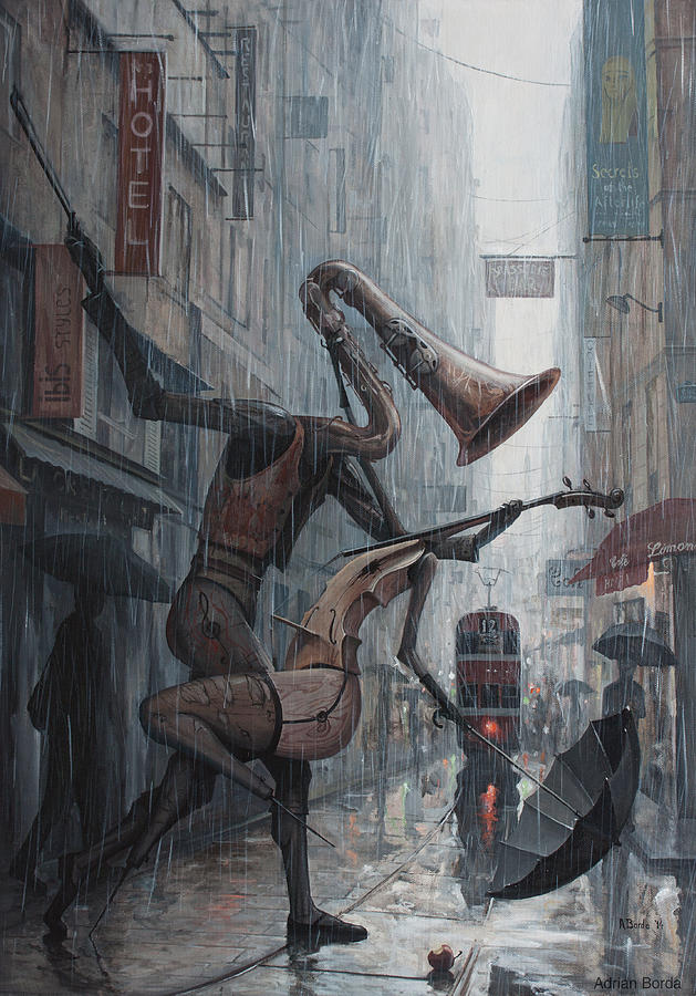 Life Painting - Life Is  Dance In The Rain by Adrian Borda