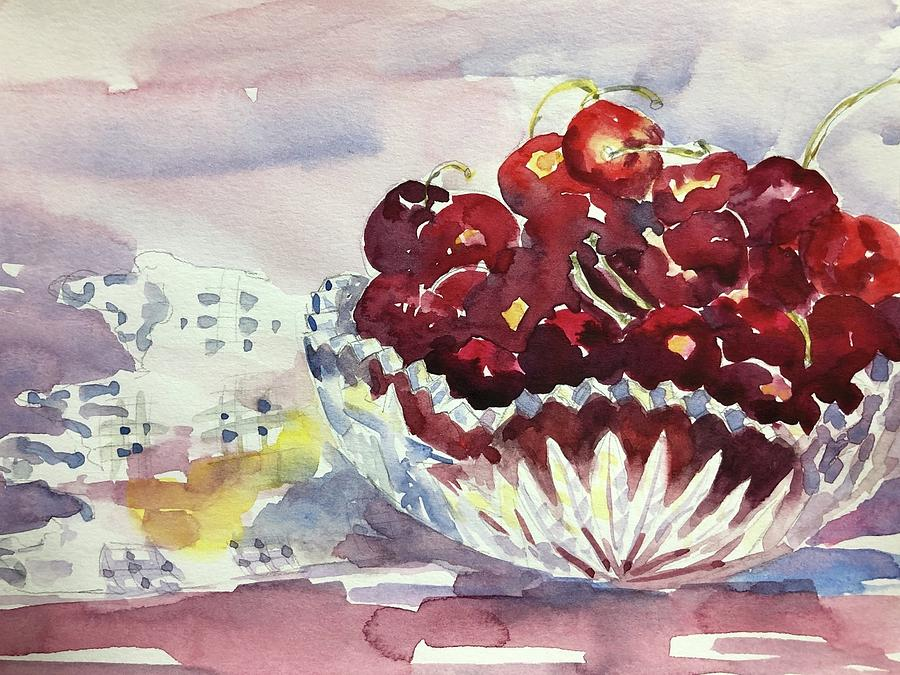 Life Is Just A Bowl Of Cherries Painting by Tara Moorman