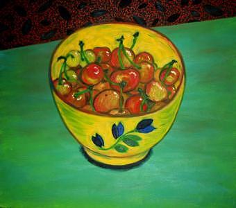 Cherries Painting - Life by Lana Cheng