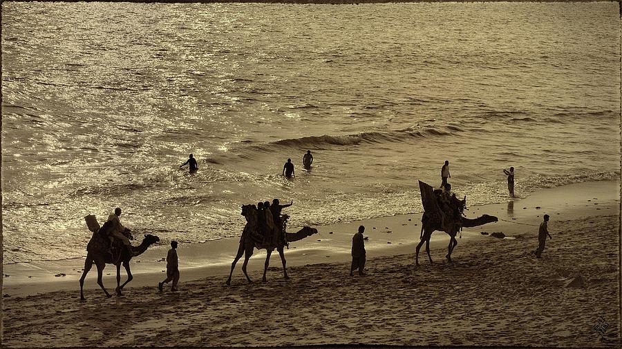 Seaside Photograph - Life Near The Arabian Sea by Syed Muhammad Munir ul Haq