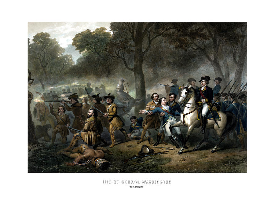 George Washington Painting - Life Of George Washington - The Soldier by War Is Hell Store