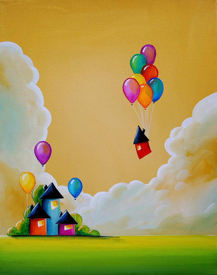 Balloons Painting - Life Of The Party by Cindy Thornton