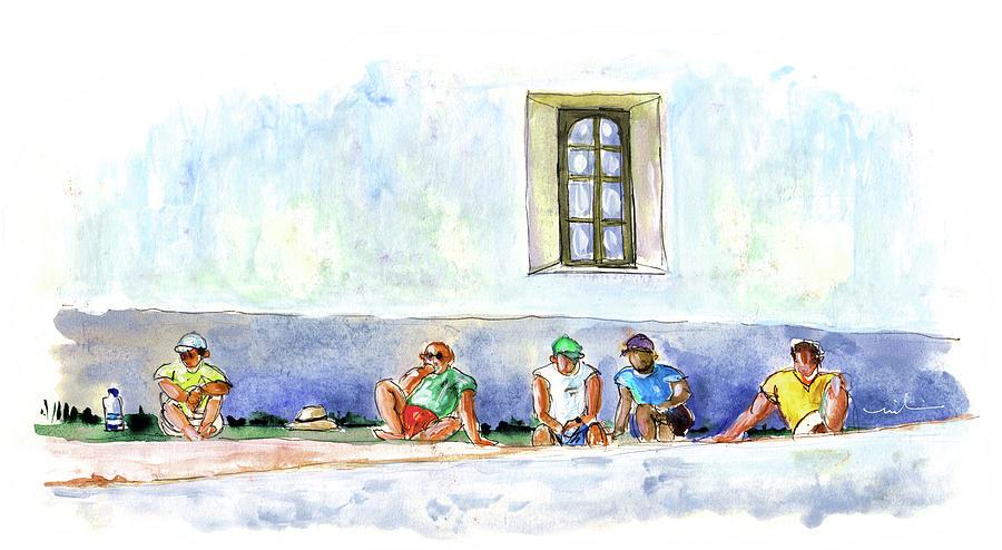 Travel Painting - Life On Culatra Island by Miki De Goodaboom