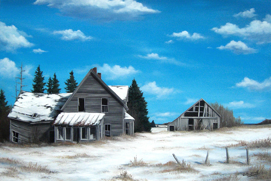 Old House Painting - Life Once Lived Here by Marc Doiron