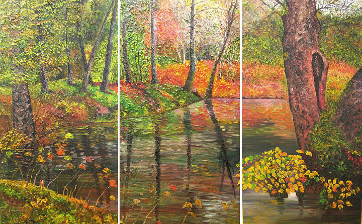 Landscape Painting - Life Through Nature by Atousa Foroohary