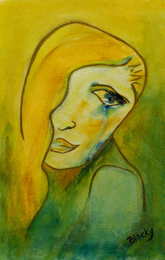 Woman Painting - Life Unlived by Donna Blackhall