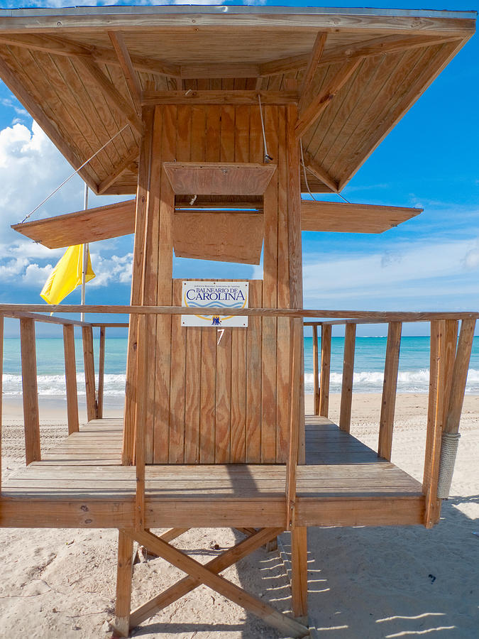 Beach Photograph - Lifeguard Hut On The Beach by George Oze