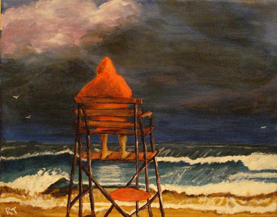 Lifeguard Painting - Lifeguard On Duty by Rita Tortorelli