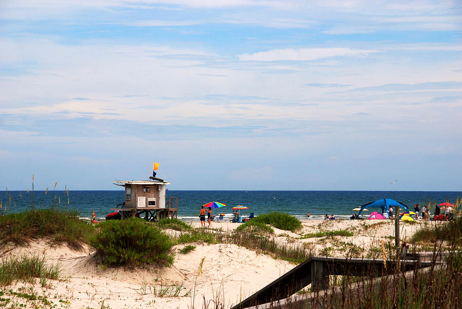 Lifeguard House At The Beach Photograph - Lifeguard On Duty by Susanne Van Hulst