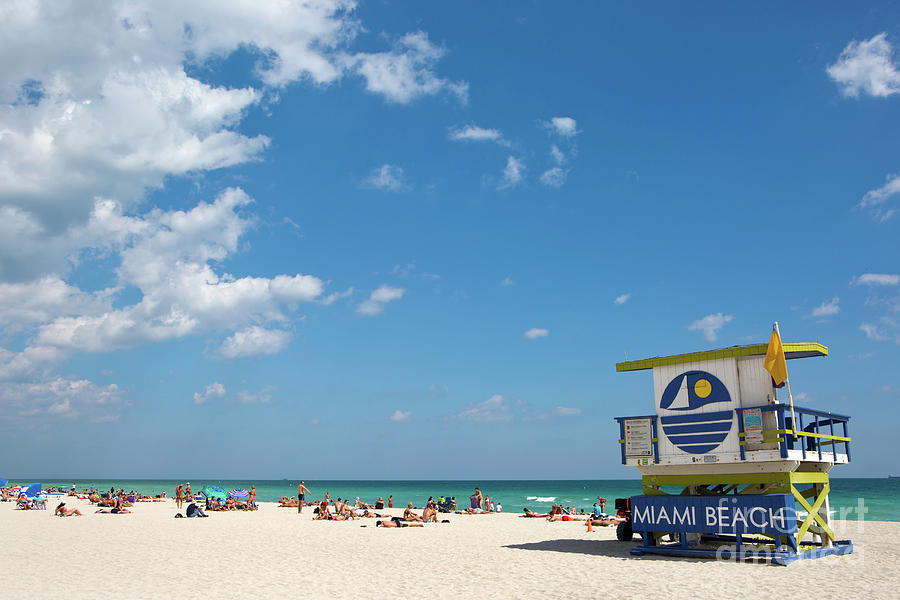Lifeguard Station Miami Beach Florida by Steven Frame