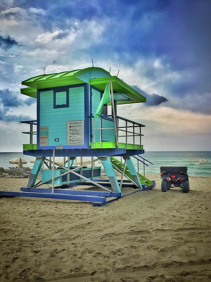 Lifeguard Station - Miami Beach by Frank Mari