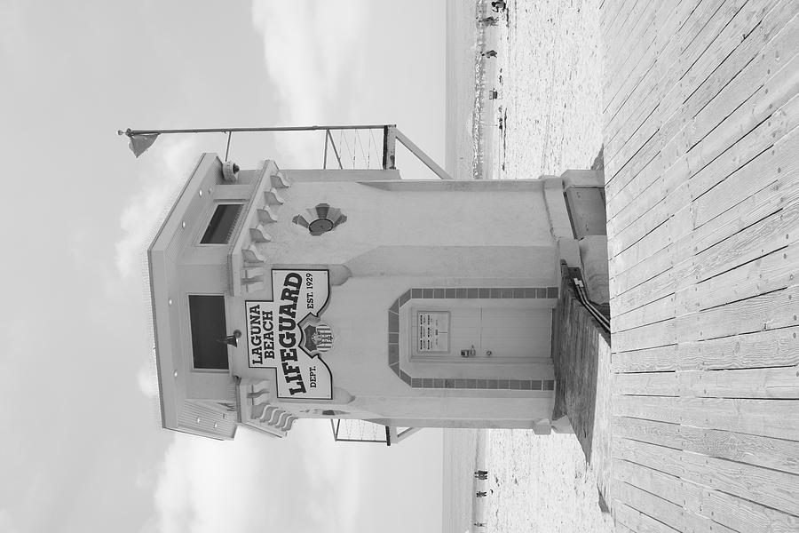 Lifeguard Tower At Laguna Beach Photograph