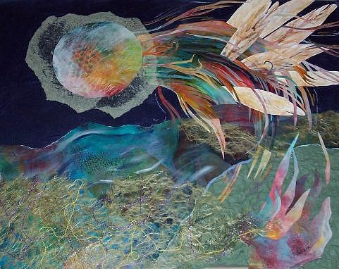 Abstract Mixed Media - Lifes Journey by Tracey Flanigan