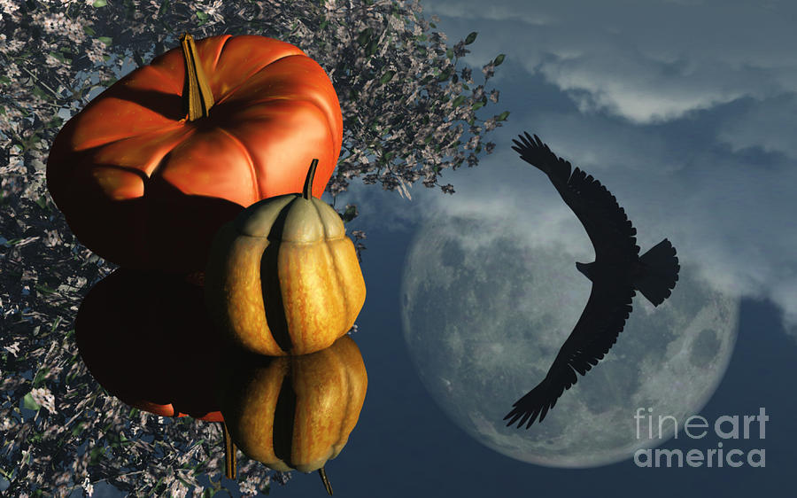 Harvest Moon Digital Art - Lifes Reflections by Richard Rizzo