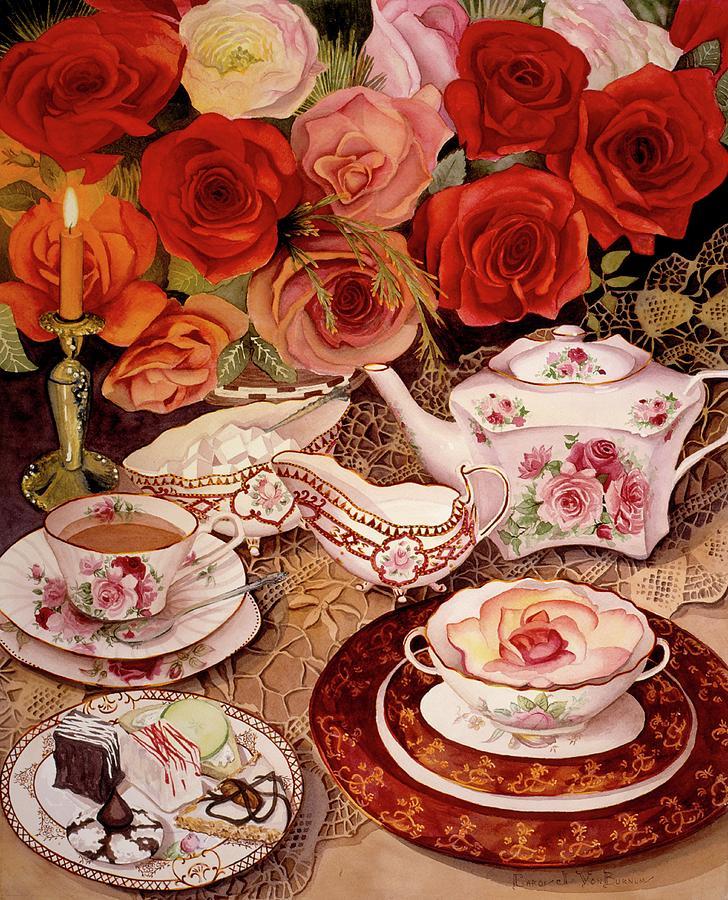 Victorian Painting - Lifes Too Short. Eat Desert First by Carol VonBurnum