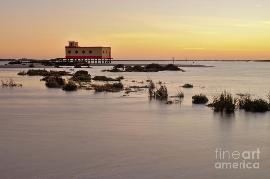 Olhao Photograph - Lifesavers Building At Dusk In Fuzeta. Portugal by Angelo DeVal