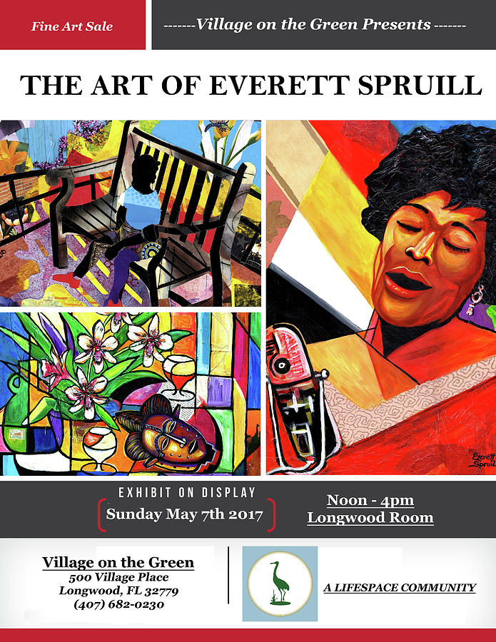 Cubism Mixed Media - Lifespace Exhibition Poster by Everett Spruill