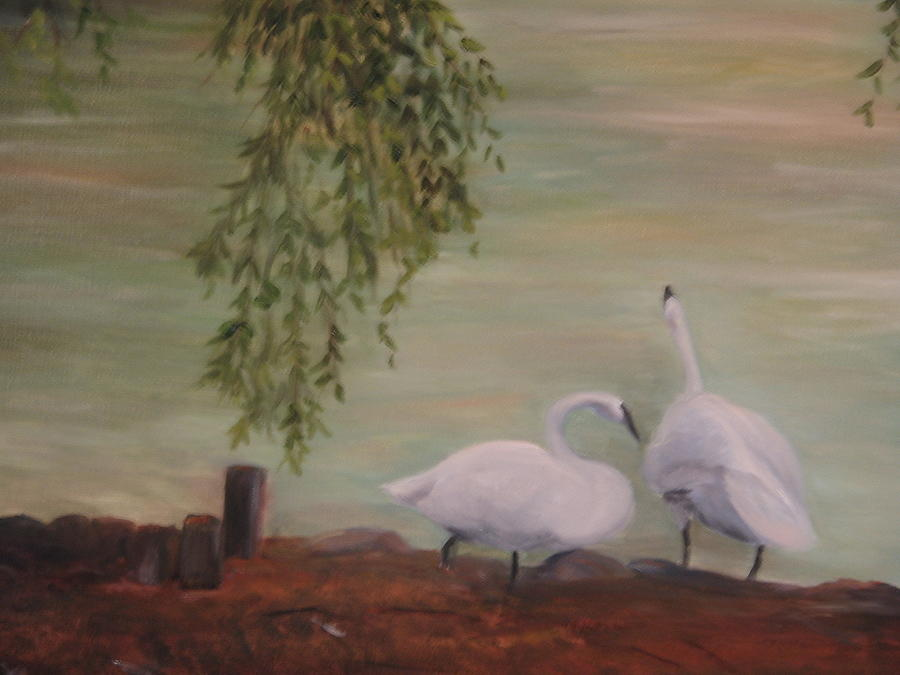 Swans Painting - Lifetime Friends by Betty Pimm