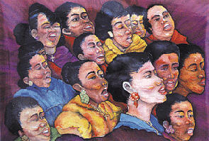 Lift Every Voice Painting - Lift Every Voice by Opoku Acheampong