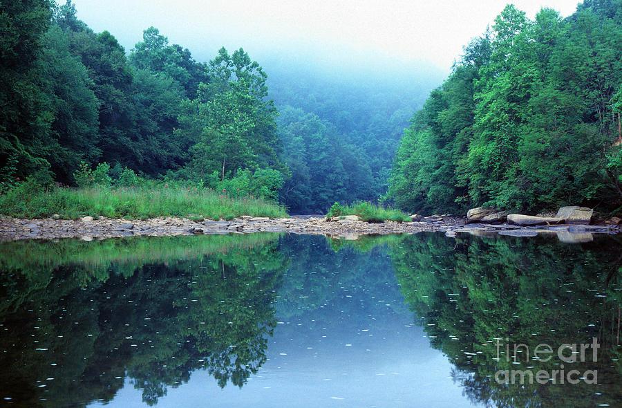 Williams River Photograph - Lifting Fog Baptizing Hole by Thomas R Fletcher
