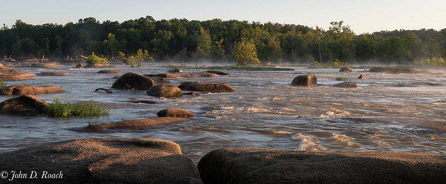 James River Photograph - Light And Mist by John Roach