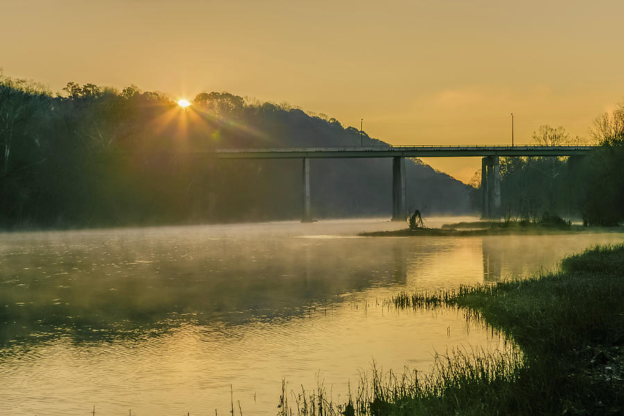 Downtown Lynchburg Photograph - Light And Mist by Tim Wilson