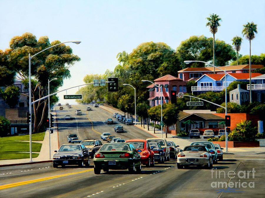 Coast Highway Painting - Light At Broadway Laguna by Frank Dalton