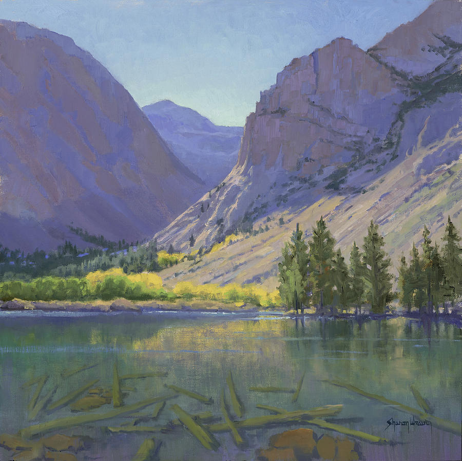 Mountain Lake Painting - Light At Parker Lake by Sharon Weaver