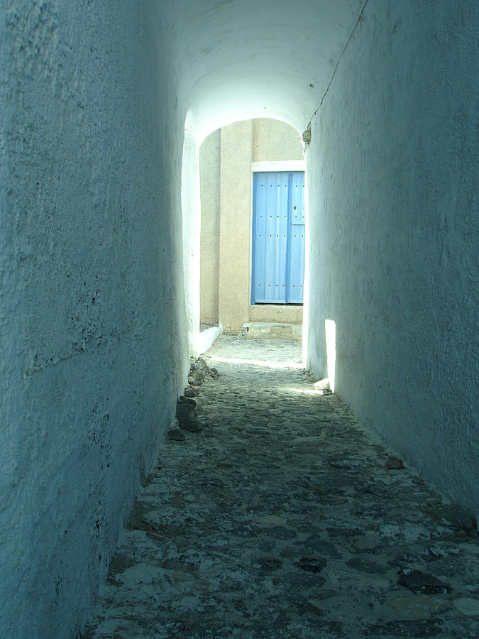 Santorini Photograph - Light At The End Of The Tunnel by Jennifer Kelly