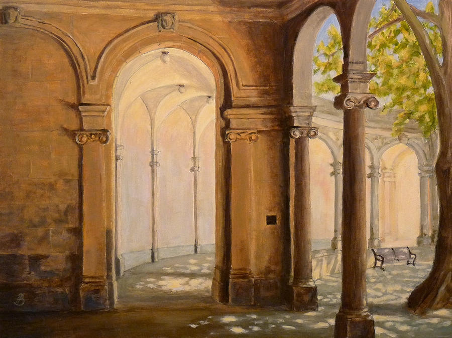 Landscape Painting - Light At The End Of The Tunnel Monmouth University by Joe Bergholm