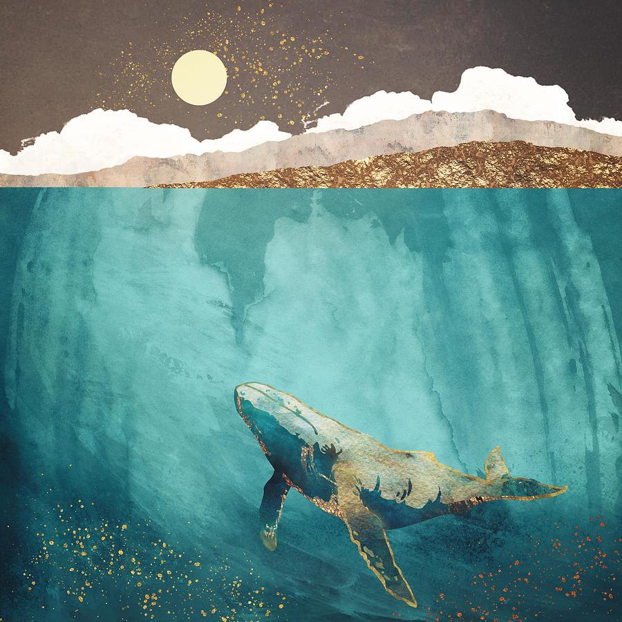 Light Digital Art - Light Beneath by Spacefrog Designs