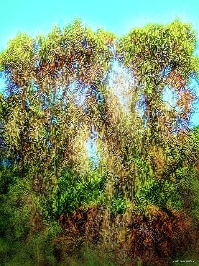 Los_angeles Digital Art - Light Beyond The Woods by Joel Bruce Wallach