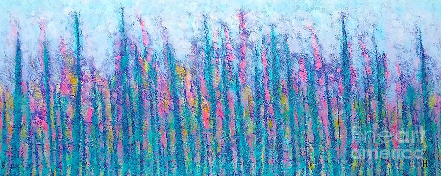 Abstract Painting - Light Breeze by Wonju Hulse