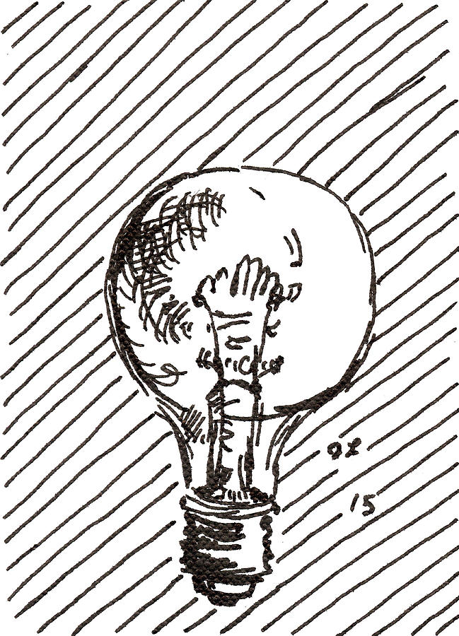 Light Bulb 1 2015 - ACEO by Joseph A Langley