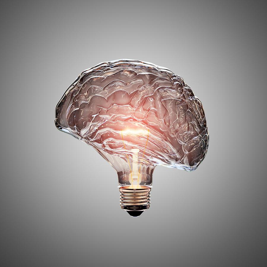 Light Bulb Brain Photograph