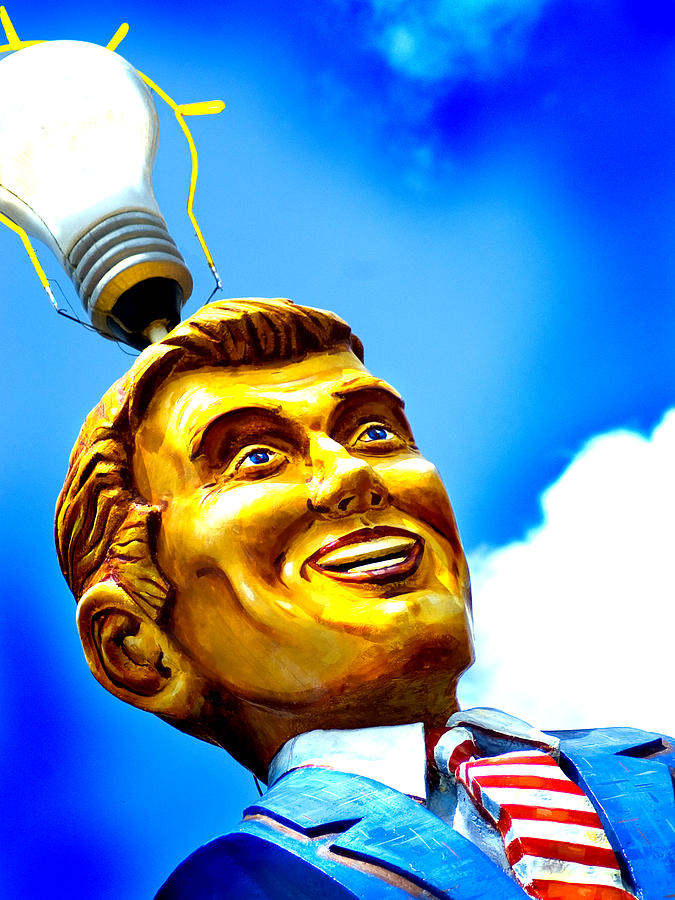 Color Photograph - Light Bulb Man by John Gusky