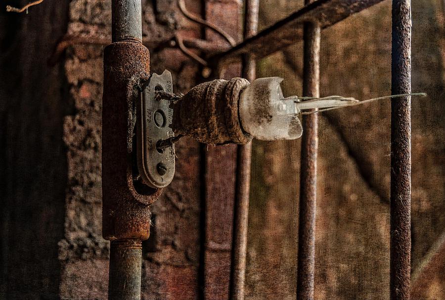 Broken Photograph - light bulb Sloss by Phillip Burrow