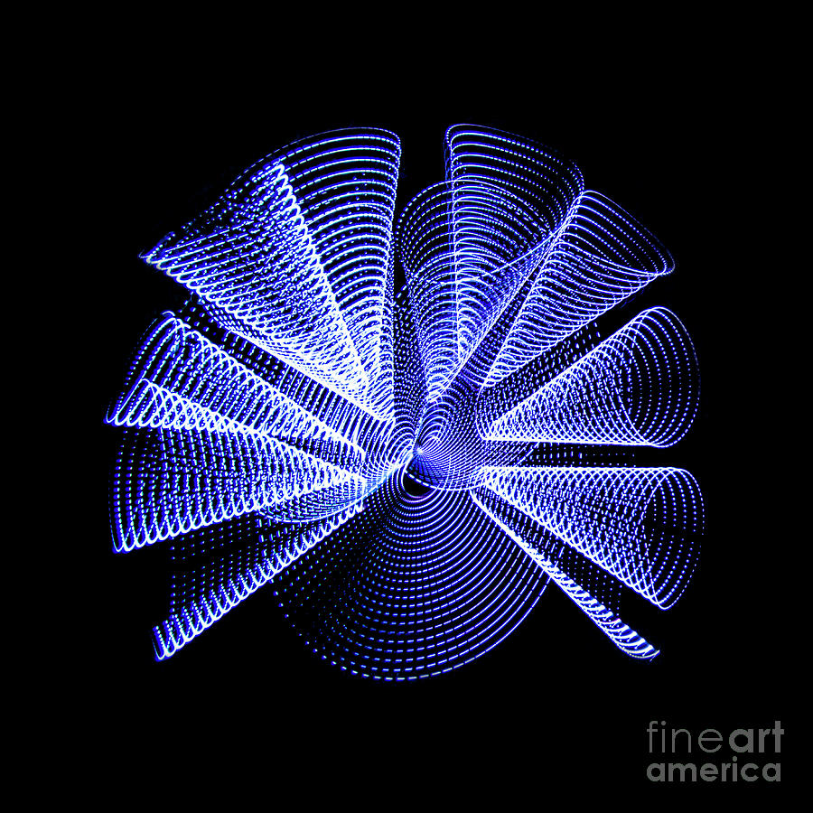 Light Painting Photograph - Light Curlers by Brian Jones