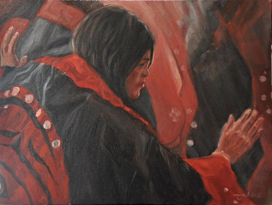 Native American Painting - Light Dancer by Tahirih Goffic