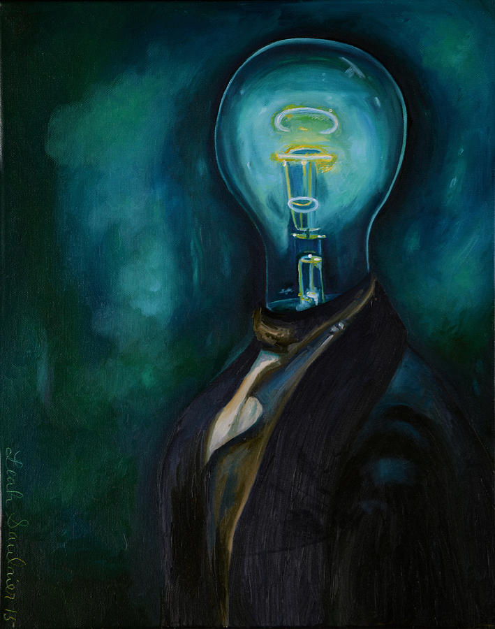 Surreal Painting - Light Headed 3 by Leah Saulnier The Painting Maniac