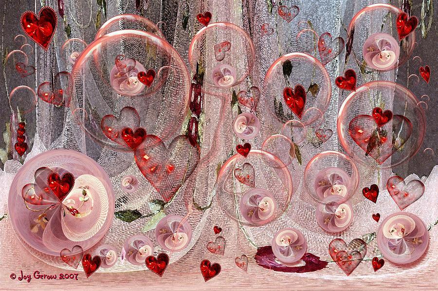 Hearts Photograph - Light Hearted by Joy Gerow
