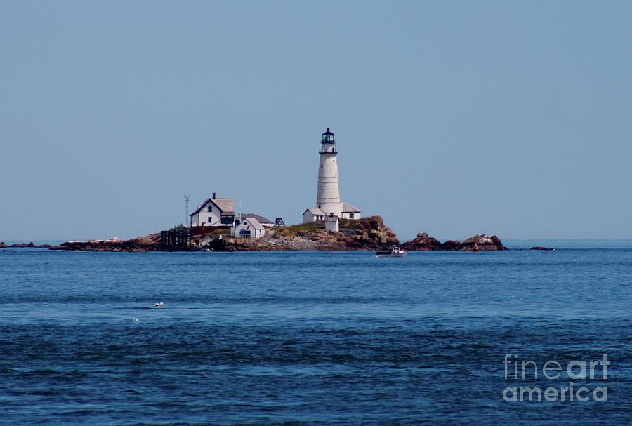 Light House Photograph - Light House On The Rocks by Gregory E Dean