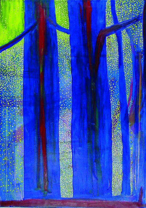 Light In The Forest Painting by Jarle Rosseland