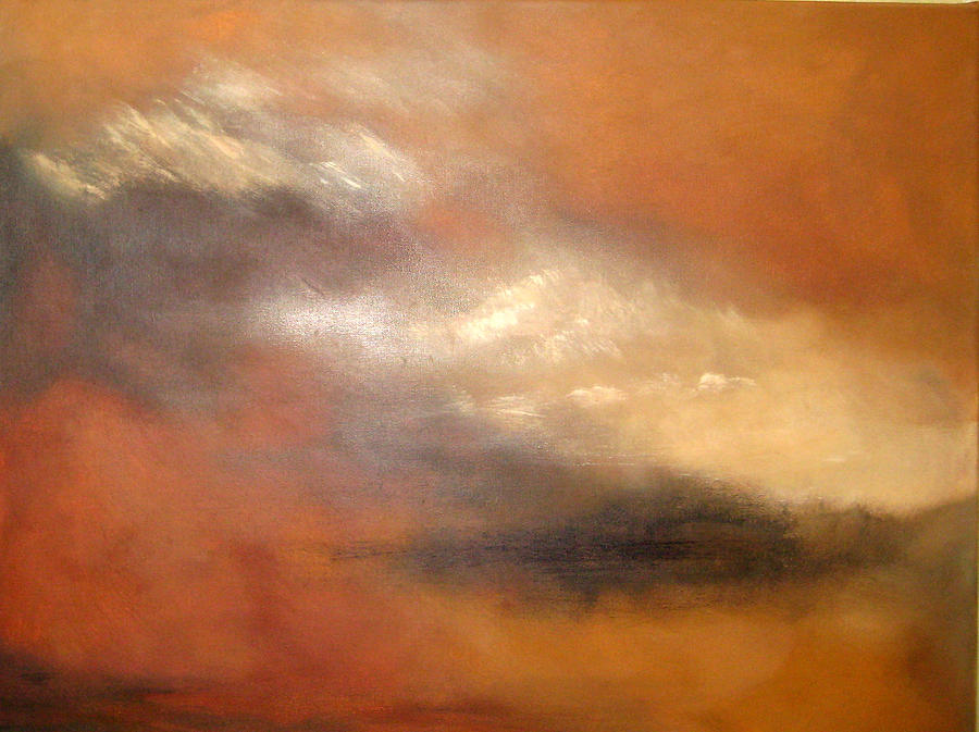 Sky Painting - Light In The Sky by Sandy Glass