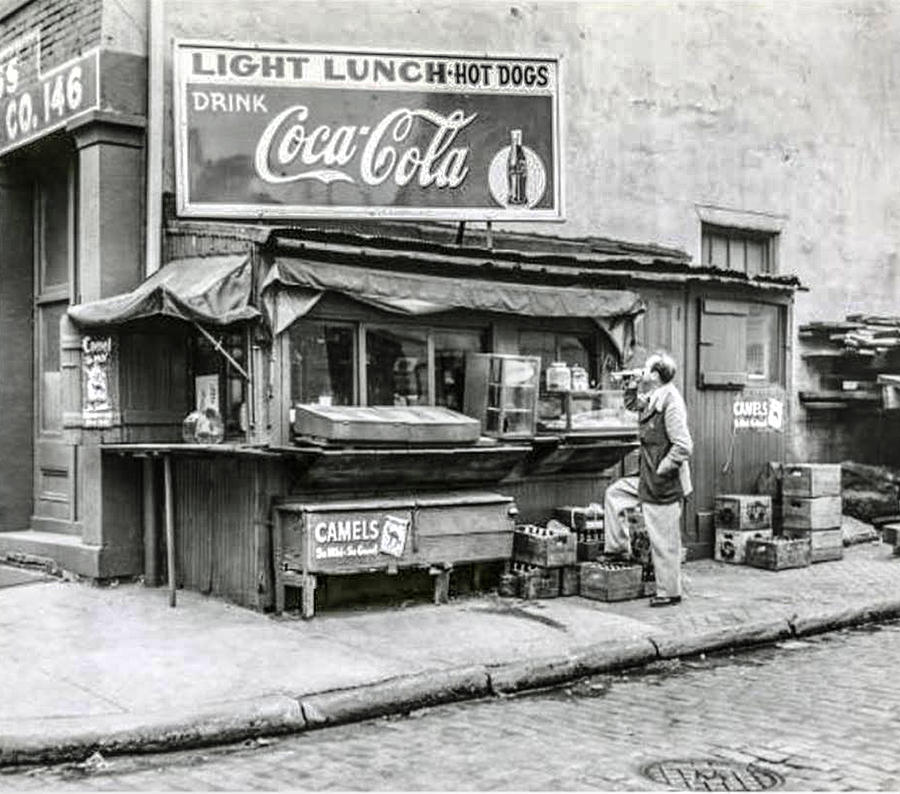 Light Photograph - Light Lunch - Hot Dogs - Coca Cola by Bill Cannon
